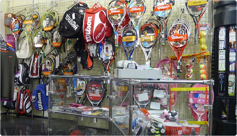 Магазин товаров для  тенниса в Санкт-Петербурге.