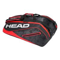 Чехол для теннисных ракеток HEAD TOUR TEAM 9R SUPERCOMBI (2019) BLACK RED