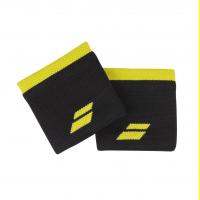 Напульсники узкие BABOLAT LOGO WRISTBAND (black/yellow)