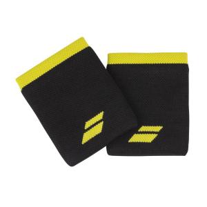 Напульсники широкие BABOLAT LOGO JUMBO WRISTBAND (black/yellow)