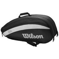 Чехол для теннисных ракеток WILSON FEDERER TEAM x 6 BLACK (WR8005701001)