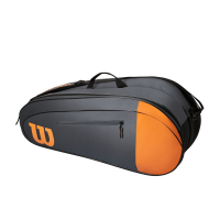 Чехол для теннисных ракеток WILSON TEAM x 6 BLACK/ORANGE (WR8009801001)