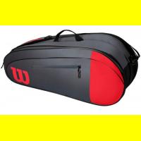 Чехол для теннисных ракеток WILSON TEAM x 6 RED/GRAY (WR8009803001)