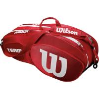 Чехол для теннисных ракеток WILSON TEAM III x 6 RED (WRZ857806)