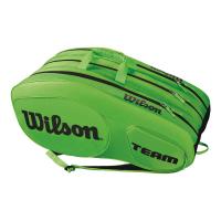 Чехол для теннисных ракеток WILSON TEAM III x 12 GREEN (WRZ854812)