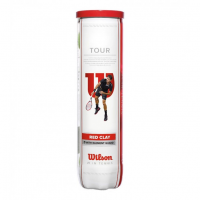 Мячи WILSON TOUR RED CLAY (4)