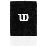 Напульсники широкие WILSON EXTRA WIDE WRISTBAND (black/white)