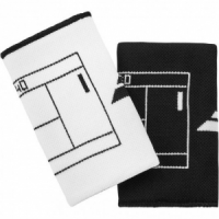 Напульсники широкие BABOLAT REVERSIBLEJUMBO WRISTBAND (white/black)